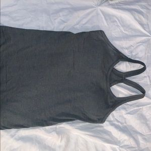 Lululemon street to ebb tank in a olive green.
